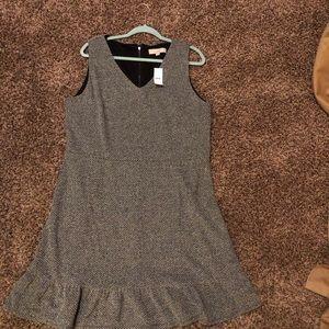 Loft Tweed Sleeveless Dress Size 18